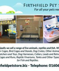 FirthField Pet Store